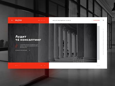 Devisu website flat landing page concept branding web ux ui lawfirm