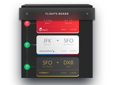 Flights Board track card web pass boarding flights ios mobile ux ui dailyui