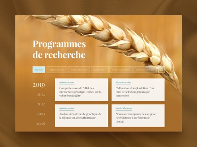 Agronomic Research Database organics wheat organic french filters natural nature ui  ux cards timeline ui database research cereals cereal agriculture app agricultural