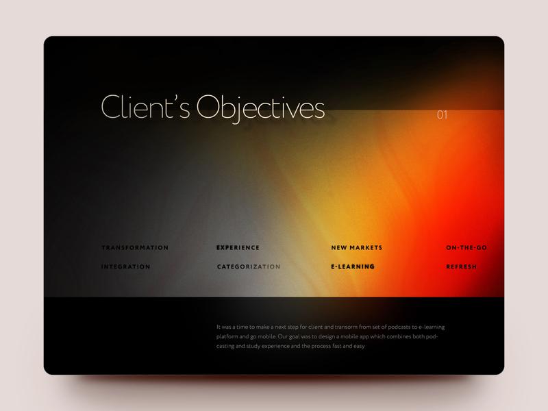Lorn Case Study texture art typography gradient color minimal dark ux mobile ios app ui