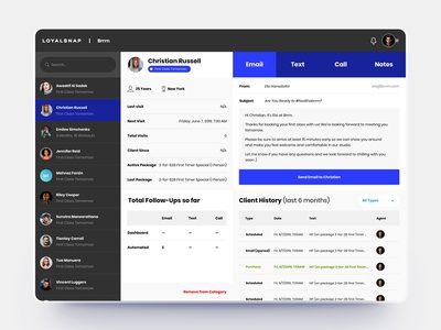 Fintess and Workout CRM