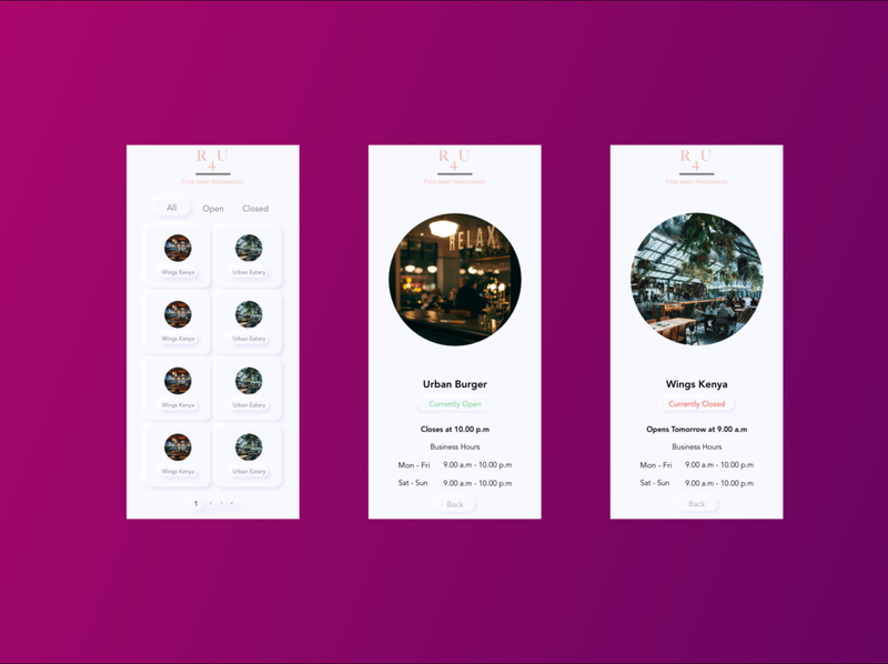 Restaurant For You Concept design ux app ui