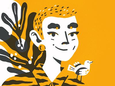 Selfie girl character portrait illustration procreate character portrait drawing illustration