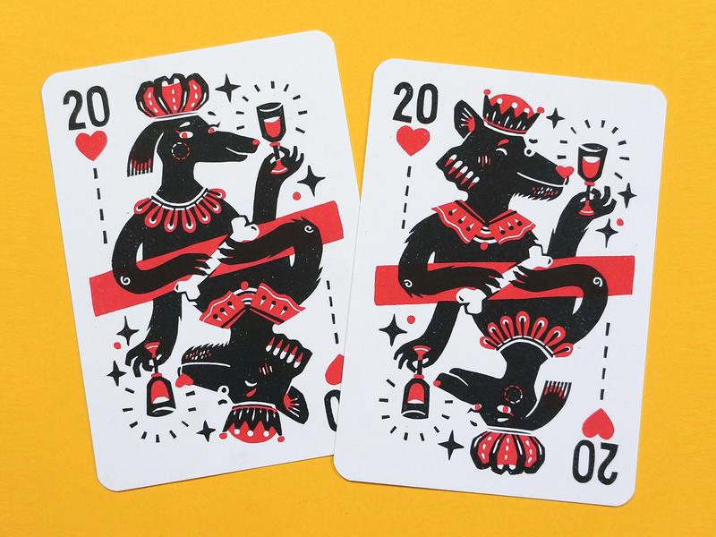 2020 cards risograph cheers dog illustration lino print linoprint linocut risoprint postcards handlettering drawing illustration