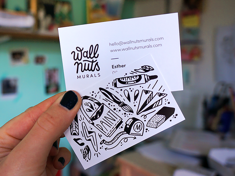 business cards Wallnuts by Esther on Dribbble