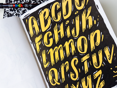 Sketchbook Alphabet linedrawing amsterdam wallpainting mural typography businesscards pattern drawing handlettering illustration