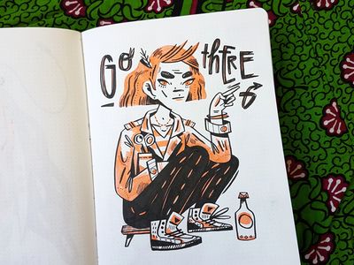Sketchbook Lady pencil girl character doodle sketch pattern design drawing lettering handlettering illustration
