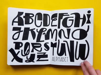 Sketchbook ABC marker posca sketchbook alphabet typography amsterdam lettering handlettering drawing illustration