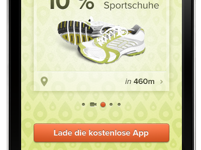 Concept mobile website client work search slider rejected simple pin shoe