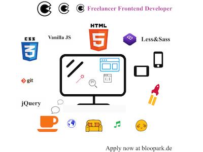 Freelancer Web Developer Wanted developer web frontend