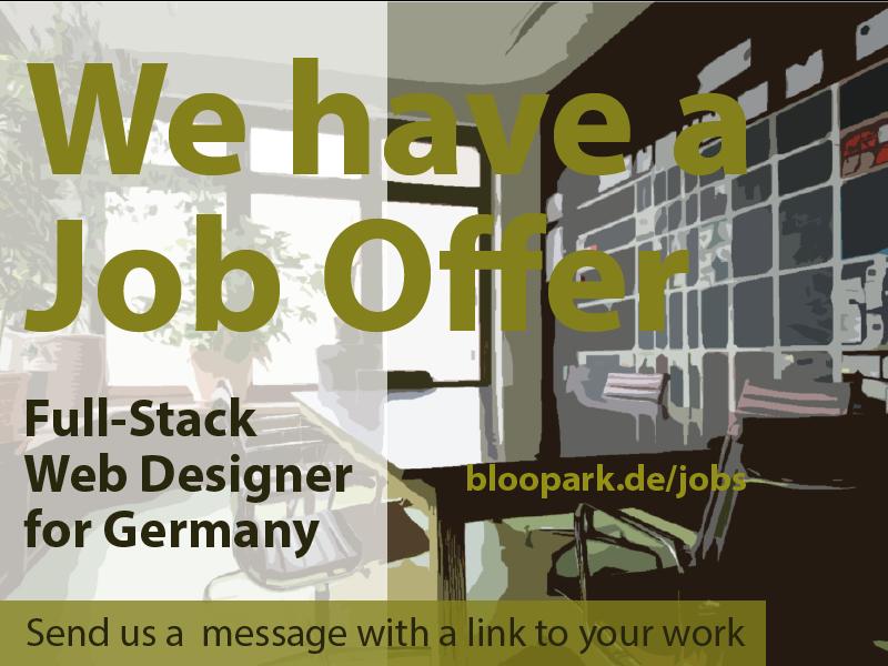 Job Offer Web Designer Web Developer By Bloopark On Dribbble