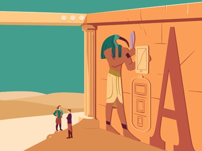Editorial 22 vector ancient toth resolution screen devices egypt editorial illustration