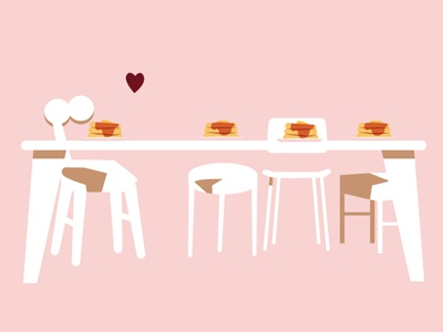 The curious case of animation assets heart pancakes chairs illustration vector animation storyboard assets
