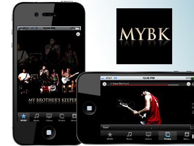 MYBK iPhone App iphone rock music band application apple app