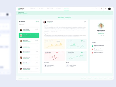 Medical Doctor's Dashboard - UIUX KIT Free [XD] ugurates2017 design free 2020 artdirector ugurates app prototype ux ui