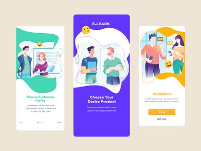 e-Learn Intro Screen Design ugurates2017 creative inspration uiux free app 2020 ux ui