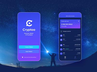 Cryptoo App - UiUx KIT [XD]