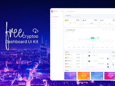 Cryptoo Dashboard Ui KIT - Free [XD] dashboard app free ugurates2017 design 2020 ux ui