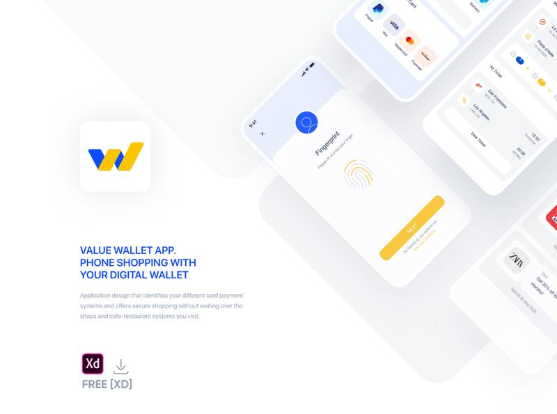 ValueWallet App  - Free Adobe [XD] dashboard creative inspration ugurates2017 free app 2020 prototype ux ui