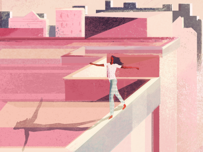 overcome colorpalette colors city citylife building woman sketch digitalpaiting illustration design