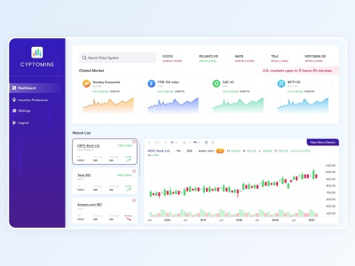 Crypto Currency Dashboard UI Design cryptocurrency app cryptocurrency exchange cryptocurrency illustration clean android branding application mockup logo creativity design ux ui
