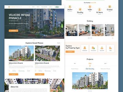 Real Estate Web UI Design website design web design agency property selling ui design property listing real estate web design apps android branding application mockup logo creativity design ux ui
