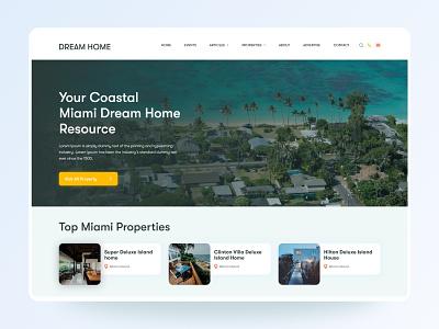 Property Listing UI Design beach property miami real estate property property listing apps android branding application mockup logo creativity design ux ui