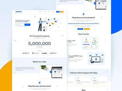 Chrome Extension Website UI Design linkedin chrome extension app design website design web design clean apps android branding application mockup logo creativity design ux ui