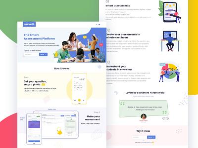 Smart Assessment Platform Web UI Design product design app design assessment  web education website education app assessment ui android branding typography application mockup logo creativity design ux ui