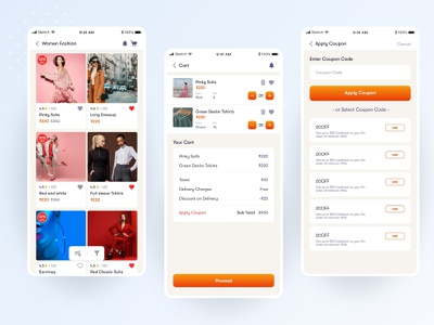 Shopping App apply coupon desing coupon code product listing cart design ecommerce business ecommerce design ecommerce app ecommerce add to cart ordering app ordering shopping bag shopping cart fashion app shopping app shopify shopping