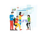 Working Staff illustration