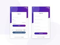 Login screen UI Design