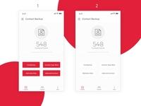 Backup Contact App Design