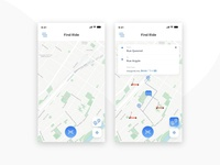 Find Ride UI UX Design