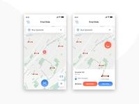 Find Ride UI UX Design