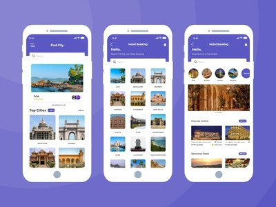 Find City And Hotel Booking App UI
