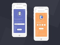 Mobile Number Authentication ui design
