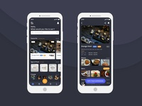 Online Food Order App - Dark Theme