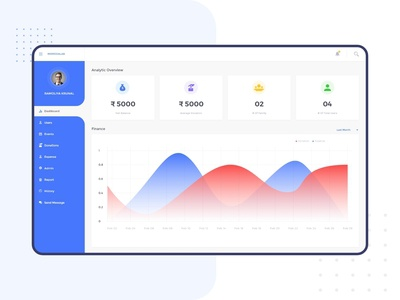 Dashboard Design for event app