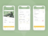 Train Booking App UI design