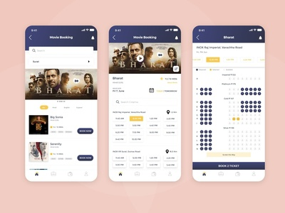 Movie Booking App UI design