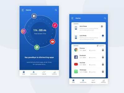 Blocking App UI Design
