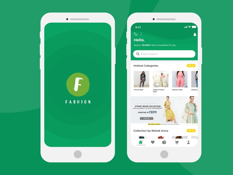 Online Shopping App application mockup logo creativity design ux ui
