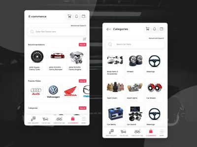 E-commerce App ui Design ecommerce design ecommerce app shopping mechnical car parts illustration clean apps android branding application mockup logo creativity design ux ui