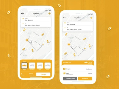Taxi Booking App UI design