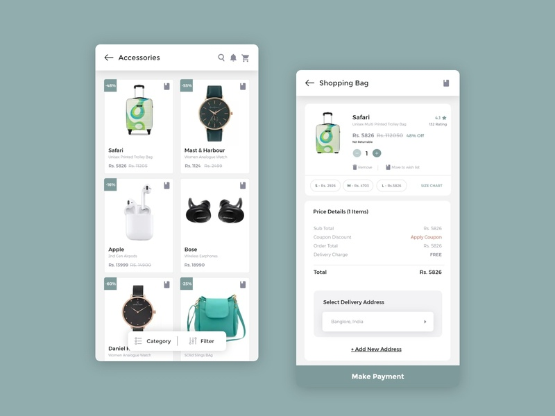 Shopping App UI design shop app shopping app shopping clean apps android branding application mockup logo creativity design ux ui