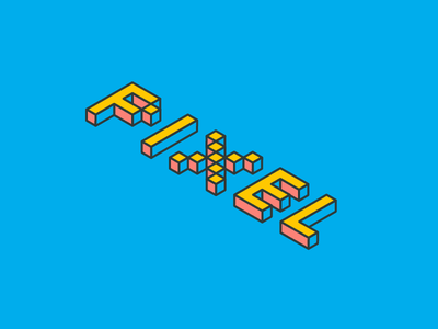 Isometric Text illustrator 3d text-effect isometric