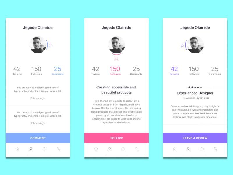 Designer Profile madewithadobexd profile colorful design