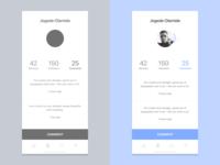Designer Profile - comments screen