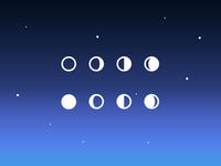 Simple Moon Phase Icons (PSD)